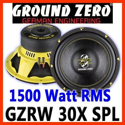 Ground Zero GZRW 30XSPL 30cm Subwoofer 300mm SPL Woofer Bass 30er 2x2ohm D2 Auto