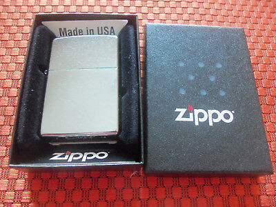 Zippo Windproof Street Chrome Lighter # 207 New in Box Made in USA