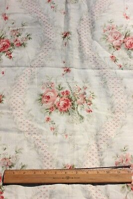 """French Antique Roses & Baskets Frame Home Cotton Fabric Yardage~Warp Print~3y21"""""""