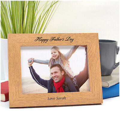 Personalised Photo Picture Frame Fathers Day Dad Daddy Grandad Uncle Family Gift