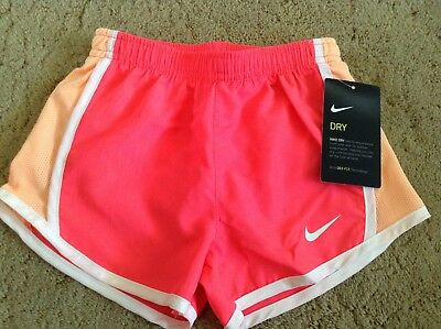Little Girls Youth Nike Shorts DriFit Racer Pink 267358-A4F With Lining Assorted