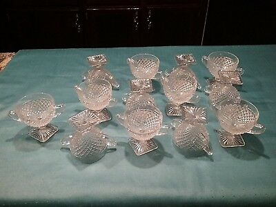 Art Deco Compote Dessert Bowl/Glasses Pedestal & Handles  Pre-Owned