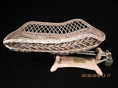 Vintage Jacob Bros. Detecto  Baby Scale Beam Basket Ex. Cond 1940's Pink