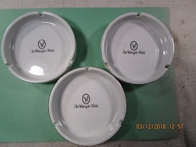 Vintage The Watergate Hotel Lot of Three(3) Ashtrays Used No chips VGC