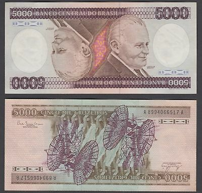 Brazil 5000 Cruzeiros ND 1981 (VF++) Condition Banknote KM #202a