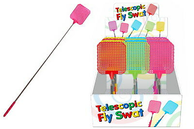 Extendable Handle Telescopic Insect Fly Swat Swatter Mosquito Extends to 76cm
