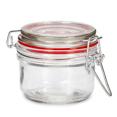 Darice Jar with Locking Lid Clear Glass 3.25 X 1.75 Inches