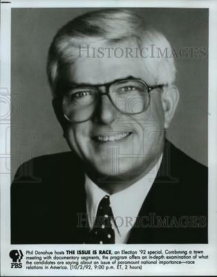 1992 Press Photo Phil Donahue hosts The Issue is Race, an Election '92 special