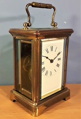 Antique French 8 Day Carriage / Mantle Clock By R&G Paris, Not working