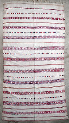 Textile weave antique oriental tribal Berber Moroccan Morocco 1950