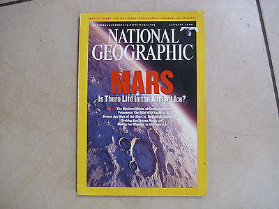 NATIONAL GEOGRAPHIC Jan 2004 issue, MARS issue, vgc
