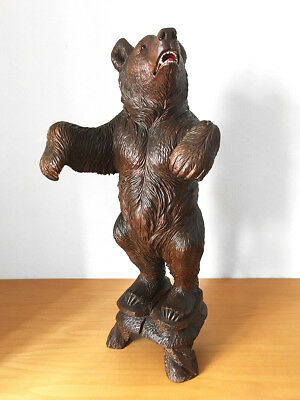 Fantastic Brienz Switzerland / Black Forest Wooden Carved Bear, 82 cm, ca. 1880
