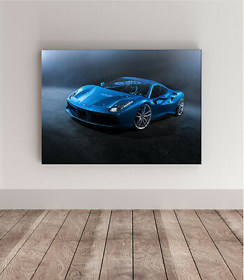 70x50 photo poster FERRARI 488 GTB Super Car wall art supercar enzo 18 43 f40