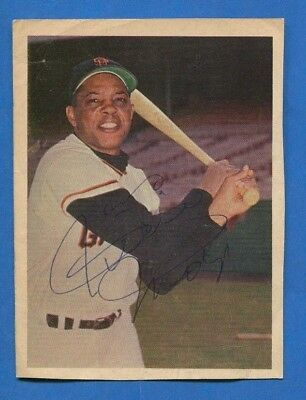 Willie Mays Autographed Vintage 4 X 5 1/2 Giants Magazine Page (Jsa Coa)