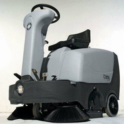 Nilfisk SR1000S Ride on Battery Powered Sweeper for both Indoor and Outdoor