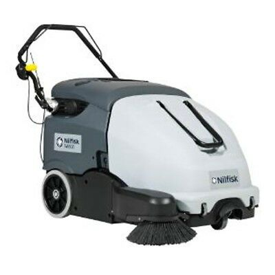NILFISK SW900 Battery Operated Walk Behind Sweeper for both Indoor and Outdoor