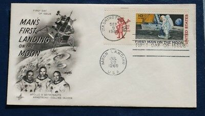 Apollo 11 First Man On The Moon Stamp Landing Postmark Day Cover