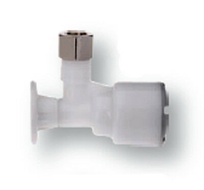 Accor Technology F PO5-3 (XF) Pushon Angle Stop Valve - White