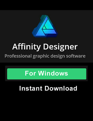 Serif Affinity Designer Professional Graphic Design Software for PC only