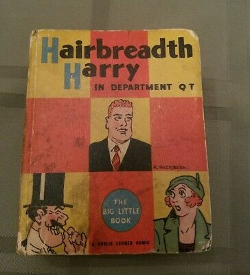 Rare Old Vintage Big Little Book Hairbreadth Harry In Department