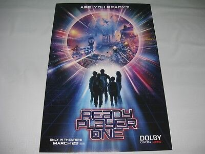 Ready Player One AMC Pre-Screening Poster NEW limited edition limited quantity