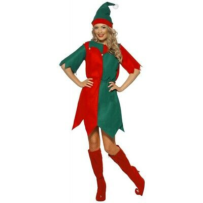 Elf Dress Costume Christmas Fancy Dress