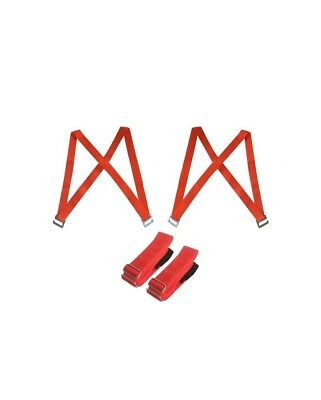 2 Person Shoulder Moving Straps Harness for 2 Movers (Red)
