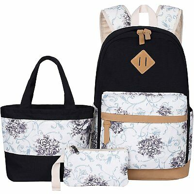 BLUBOON TEENS BACKPACK Set Canvas Girls School Bags f7406d822efad