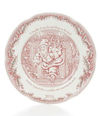 Johnson Bros Twas The Night Before Christmas Collector Plate 2016 NIB