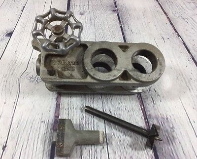 Vintage Dexter Door Jig Double Hole & Parts Knob Industrial Steampunk