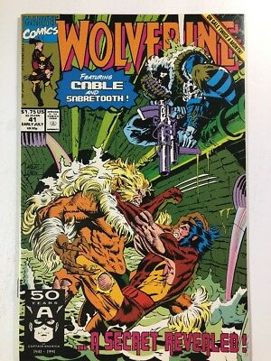 Wolverine #41 (Marvel 1991) Sabretooth Cable