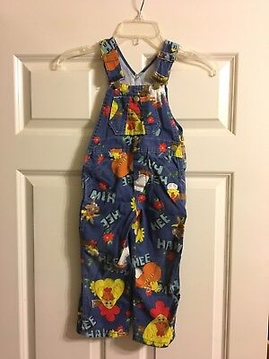 Vintage Liberty Hee Haw Overalls Child Toddler Size 4 Rare One Hip Button Unisex