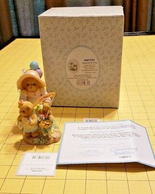 2006 Cherished Teddies Anneliese & Elisa 4007333 15th Anniversary with Papers
