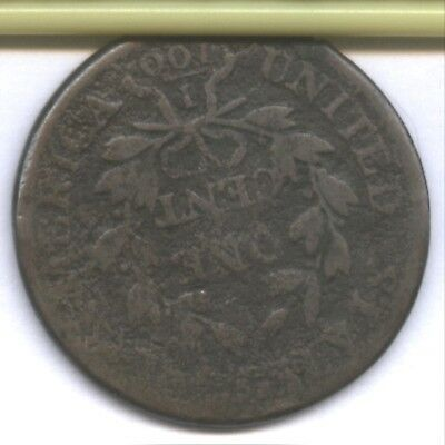 1807 Us Large Cent * Good Detail * Die Rotated 180 Degrees !! * Great Buy !!