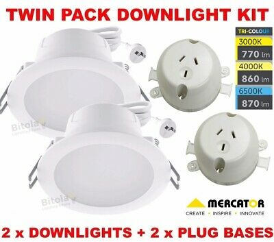 size 40 8ee71 3637d 2X 10W LED DOWNLIGHT CCT CHANGING WARM/COOL/DAYLIGHT ...