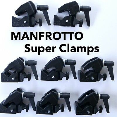 Lot of 8 Manfrotto 035 Super Clamps (w/o Studs) Replaces #2915