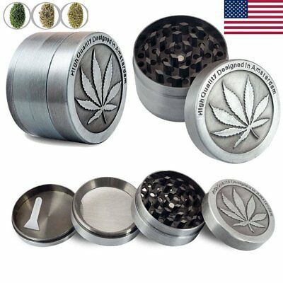 4 Layers Tobacco Herb Grinder Spice Herbal Alloy Smoke Crusher Metal Chromium