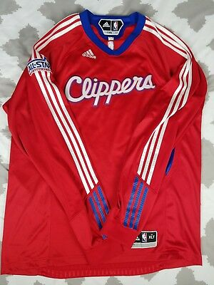 4512aa103bc Los Angeles Clippers Adidas Warm Up Shooting Shirt Jersey XL Tall LA  Authentic