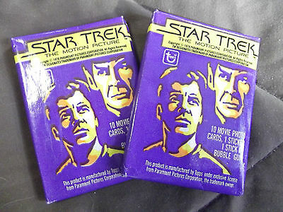 Star Trek TOPPS wax pack The Motion Picture 1979 cards New Kirk Spock