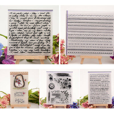 Silicone Rubber Clear Stamp Cling Seal Scrapbooking Diary Card DIY Craft