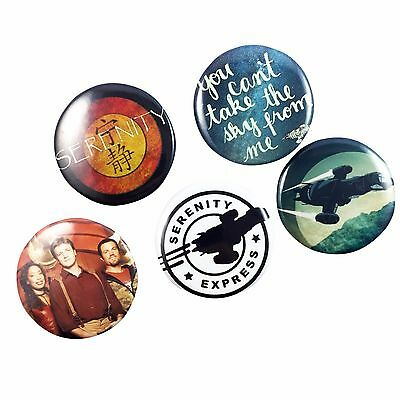 Firefly Serenity Badge Set - Pin Back Buttons Party Favor Costume Quote TV Movie