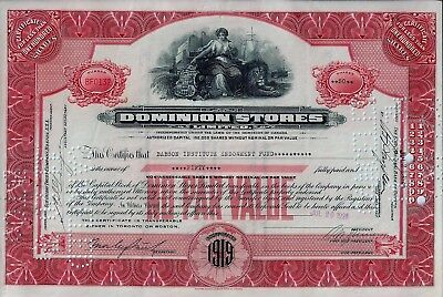 CANADA - Dominion Stores Limited, 1926  (50 Shares)