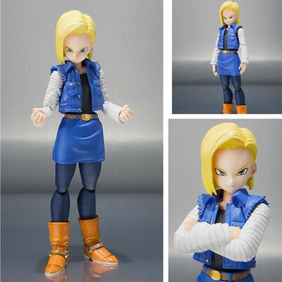 SHF Dragon Ball Z Android No.18 Anime Action Figuren Figur Statue In Box