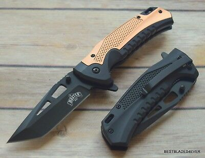Master Usa Tactical Spring Assisted Knife With Pocket Clip - 8.25 Inch