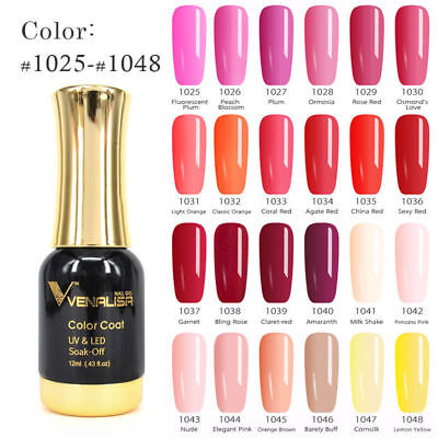 Artlalic Nail Art Design UV Soak Off Gel VENALISA Lacquer 12ml Natural,Pink,Nude