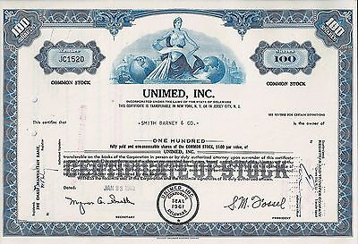 UNIMED Inc., Delaware, 1963 (100 Shares)