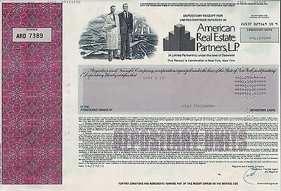 American Real Estate Partners L.P., Delaware, 1988 (2.000 Depositary Units)