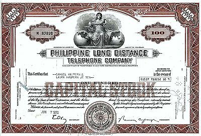 Philippine Long Distance Telephone Company, 1972,  (100 Shares)