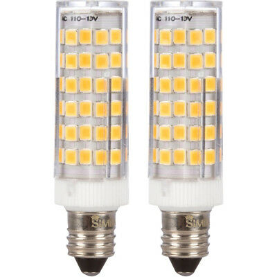 [2 Pack] LED E11 T4 6W 50W Equivalent Mini-Candelabra 120V JD Soft White 3000K