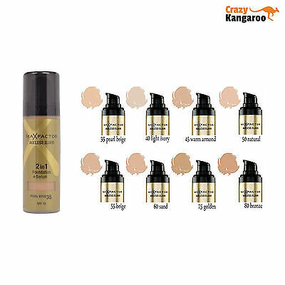 Max Factor Ageless Elixir 2in1 Foundation & Serum 30ml SPF15 *Choose Your Shade*
